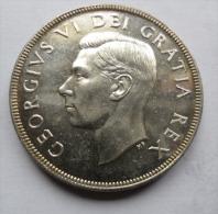 CANADA, GEORGE VI - PIECE DE 1 UN DOLLAR EN ARGENT DE 1952 - Canada