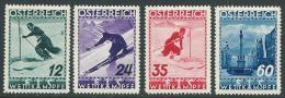 AUSTRIA/OOSTENRIJK  1935  Mi. 623/626  MH  Almost MNH - Nuovi