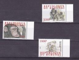 [X] Série ** Complete Set Primate Singe Ape Gorille Gorilla Burundi 2011 - Gorilles