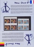 MAX ERNT DOCUMENT   ALLEMAGNE -FRANCE (BLOC NEUF DE 4) - Documentos Del Correo