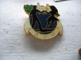 Pin's Club De Danse: AASMR (Association Sportive Des Municipaux De Rennes Métropole) - Badges