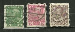 """Autriche Oblitéré ; Y & T N° 104a,106a,108a ; """" 60 Anniv Du Règne De François Joseph 1er """" - Oblitérés"""