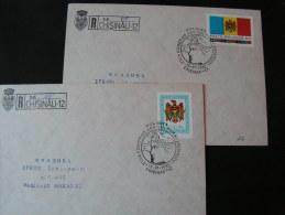 == Moldova  - 2 R-Briefe 1992 FDC  ?? - Moldawien (Moldau)