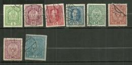 """Autriche Oblitéré ; Y & T De La Série N° 143 à 161 ; """"  Couronne Et François Joseph 1er """" - Oblitérés"""