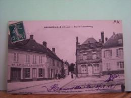HERMONVILLE (MARNE) LES COMMERCES. LES MAGASINS. RUE DE LUXEMBOURG. - Other Municipalities