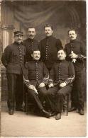 CP - Photo - MILITARIA - GROUPE DE MILITAIRES - Artillerie ? 1-8-62-23-46-43ème- Bourges? - Guerre 1914-18
