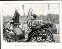 Les Porteurs De Sabre De L´empereur D´Annam       Gravure, Photo      1898 - Vieux Papiers