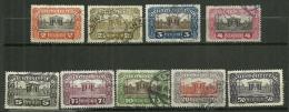 """Autriche Oblitéré ; Y & T ;   N° 214 à 222 ; """" Parlement De Vienne """" - 1918-1945 1ère République"""