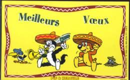 CPM - Pif & Hercule - Avec Son Enveloppe - Nouvel An