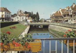 Châtillon Sur Seine - Ponts Fleuris Sur La Seine - Commerces, Voitures - Non écrite - Chatillon Sur Seine
