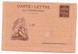 CARTE LETTRE DE L'ESPERANCE LION DE BELFORT / LETTRE VIERGE CP8589 - Poststempel (Briefe)