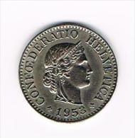 ZWITSERLAND  10 RAPPEN  1953 - Suiza