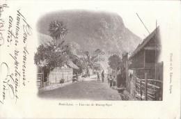 Indochine Haut Laos Une Rue De Muong Ngoi Saïgon - Laos