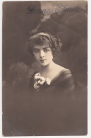*** JOLIE FILLETTE *** BONNE ANNEE ***1918 *** Posté De Suisse *** - Portraits