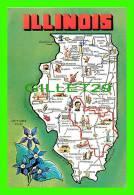 MAPS - ILLINOIS - PRAIRIE STATE - CARTE GÉOGRAPHIQUE - - Cartes Géographiques