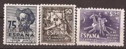 ES1012-L4134TVÑF.España.Spain .Espagne.CENTENARIO DE CERVANTES.Escritor.Quijote.DIA DEL SELLO. 1947 .( Ed 1012/4**) - Viñetas De Fantasía