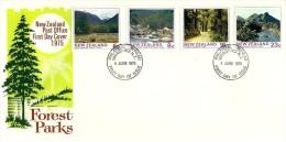 NEW ZEALAND FDC FOREST LANDSCAPES SET OF 4 STAMPS  DATED 04-06-1975 CTO SG? READ DESCRIPTION !! - Nouvelle-Zélande