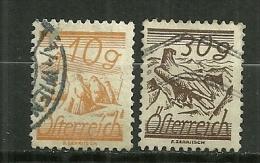 """Autriche Oblitéré ; Y & T ;  333,344 ; """" Série Courante """" - 1918-1945 1ère République"""