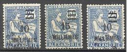 Alexandrie: Yvert N° 70/71°;1 Timbre Offert; Voir Scan - Alexandrie (1899-1931)