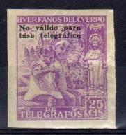 Beneficencia, Huérfanos Del Cuerpo De Telégrafos, 25 Cts - Wohlfahrtsmarken