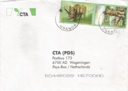 Uganda 2001 Isoro 1 Leopard Cat Rhinoceros Cover - Oeganda (1962-...)