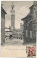SIENA Palazzo Pubblico Visto Dalla Alfonso Raspi C.C.C. 3608 Andata 1907 In Danimarca - Siena