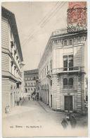 SIENA Via Umberto I. Animata  C.C.C. 3608 Andata 1907 In Danimarca 5 Lire - Siena