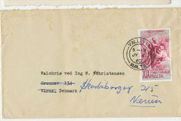 1960 Cover With 6d St Paul's Shipwreck To Denmark - Malta