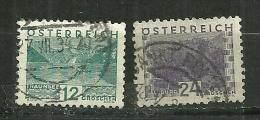 """Autriche Oblitéré ; Y & T ;  406,410 ; """" Paysages """" - 1918-1945 1ère République"""