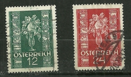 """Autriche Oblitéré ; Y & T ;  515 & 516 ; """" Affranchissement Du Nouvel An """" - 1918-1945 1ère République"""