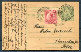 1924 Yugoslavia / Slovenia JESENICE - POLA, Italy Uprated Stationery Postcard - Slovenia