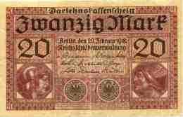 Allemagne Germany 20 Mark 20 Februar 1918 P57 - [ 2] 1871-1918 : German Empire