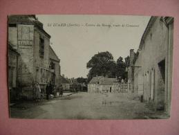 CP LE LUARD CENTRE DU BOURG ROUTE DE CONNERRE  - ECRITE EN 1935 - France