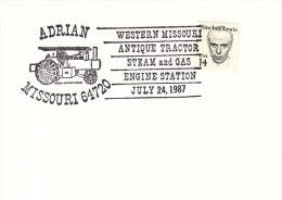 1987 USA Adrian Missouri Antique Steam Gas Tractor Farming Agriculture Tracteur Fattoria Agricoltura Trattore - Agriculture