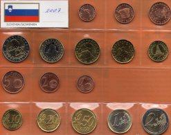 Neu €-Einführung Slowenien 2007 Prägeanstalt Ljubljana Stg 16€ Stempelglanz Staatlichen Münze New Set Coins Of Slovenija - Eslovenia
