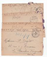 Correspondance Infirmier Militaire 1939 Drôle De Guerre - 1914-18