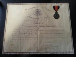 Médaille De L'Yser Et BREVET Belgique Du Soldat SIMON Georges Poilu Mission Militaire Française Auprès De L'armée Belge - Belgique