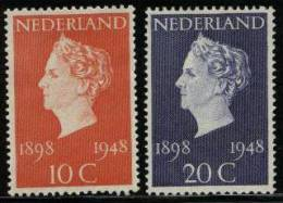 NEDERLAND 1948 Hinged Stamp(s) Silver Jubilee 507-508 #029 - Used Stamps