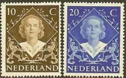 NEDERLAND 1948 OMP Zegel(s) Inhuldiging 509-510 #380 - Period 1891-1948 (Wilhelmina)