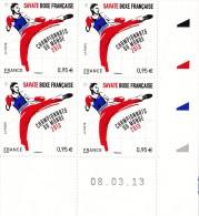Coins Datés 2013 -Savate Boxe Française - Championnats Du Monde 2013 - 08.03.2013 - 2010-....