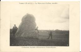 YMERAY  ( Eure Et Loir ) -  LA MERE-aux-CAILLES -  Menhir -  Société D'Excursions Scientifiques - France