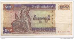 Myanmar - Banconota Circolata Da 500 Kyats - 1994 - Myanmar