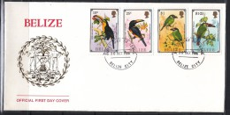 Berlize 1986 Birds, Toucan FDC - Birds