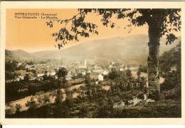 Entraygues - Vue Générale : Le Moulin - 2 Scans - Cachet+timbre 1933 - Francia