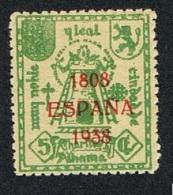 Alhama Caridad  1808-1938 5 Cts. Nuevo Sin Char. - Viñetas De La Guerra Civil