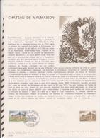 185 FDC 1ER JOUR MUSEE POSTAL 1976 FEUILLET CHATEAU DE MALMAISON - Documents De La Poste