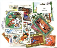 Lot 100 Timbres Mongolie - Mongolie