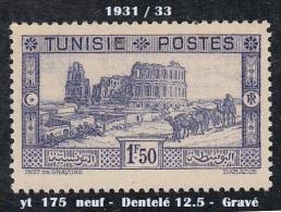 1931- 33 - France - Tunisie - Amphithéatre D'El Djem - 1 F. 50 Bleu - Neuf - - Unused Stamps