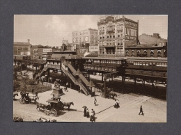 NEW YORK CITY - GREELEY SQUARE FROM BROADWAY AND 34th ST 1898 - PHOTO POSTCARDS REP. - SELECTED BY HAYWARD CIRKER - New York City