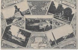 LAZIO-ROMA CITTA' -  SALUTI DA ROMA VEDUTE MULTIPLE GRUS AUS - Souvenir De...